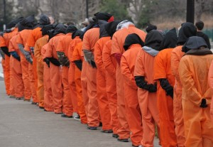 US-ATTACKS-RIGHTS-GUANTANAMO-PROTEST