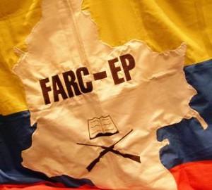 Farc-ep bandeira. Foto Xurxo Martínez Crespo