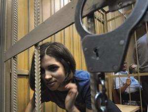 Nadezhda Tolokonnikova, a member of fema