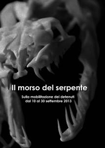 IL MORSO DEL SERPENTE Sulla mobilitazione dei detenuti dal 10 al 30 settembre 2013